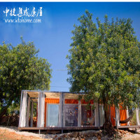 ce certificate Light Steel Villa with solar system, Sandwich Panel Prefab Kit Home