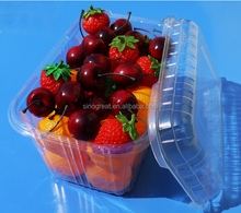 New Design Clear Plastic PET Food Fruit Packaging Tray For Grape With Clear Lid