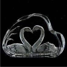 wholesale cheap price crystal double swan favors for a newly married couple gifts