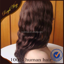 100% Human Hair Wavy Old Fashion Wigs Factory Outlet Middle Parting Jewish Women Wigs, Human Hair Wigs