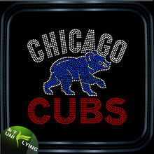 Bling chicago cubs wholesale rhinestone transfers design