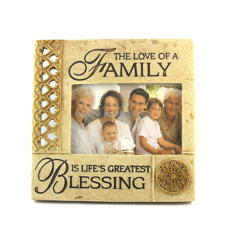 High quality family portrait photo frame for holiday memory