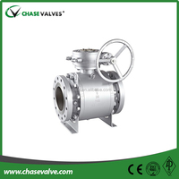 API 6D standard bolted trunnion mounted industrial gas ball valve