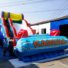 ZZPL Outdoor Giant Commercial Big Kahuna Inflatable Dry or Water Slide for Adults and Kids