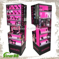 makeup stand cosmetics floor display stand
