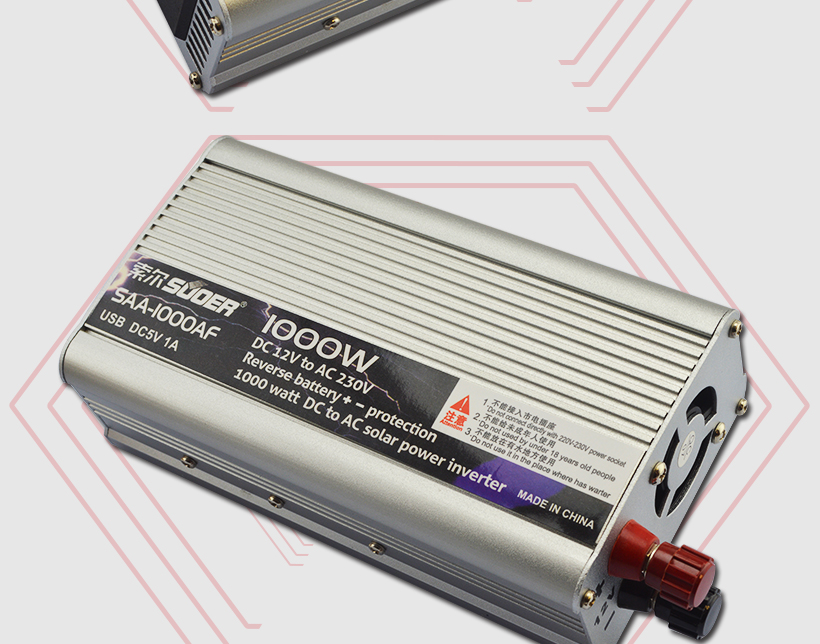 Suoer 1000w 12v to 220v dc ac modified sine wave solar power inverter with anti-reverse