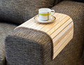 Flexible Wooden sofa armrest tray, lap desk for small spaces