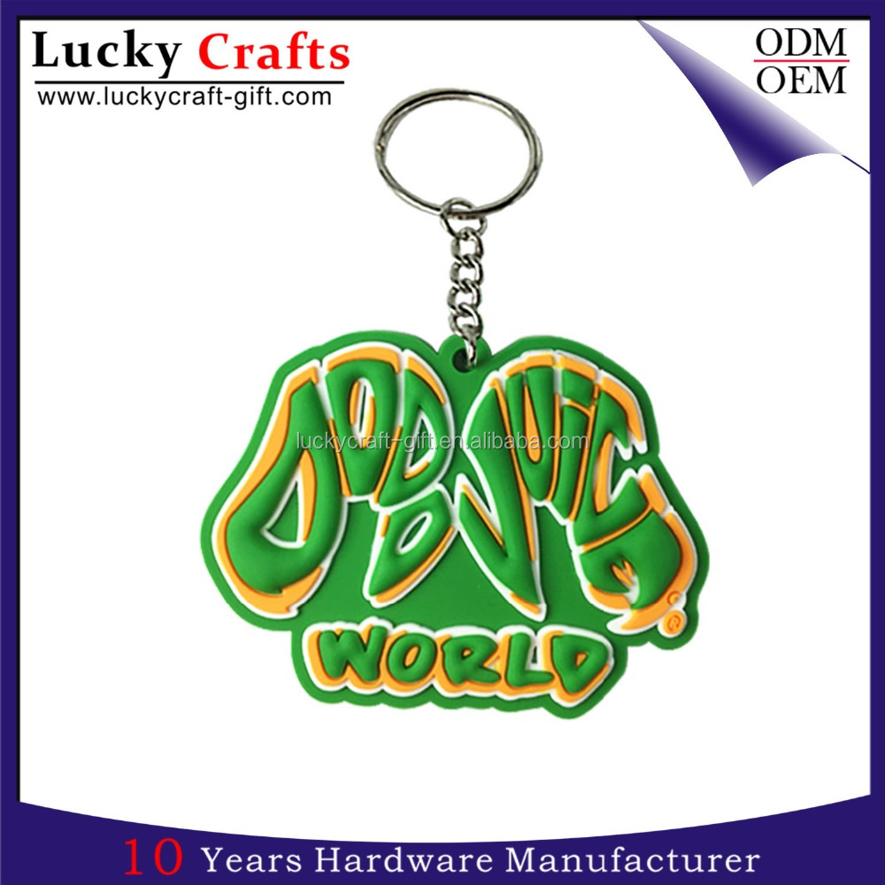 newest product wholsale custom 3d soft pvc keychain
