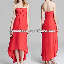 China supplier woman clothing elegant strapless cocktail maxi evening wedding dress (NTF04170)