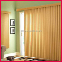 best quality durable faux wood PVC vertical sliding door window blinds for roof windows