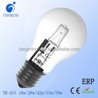 Italiy Energy saving and high quality Classic E27 A55 ECO halogen lamp 18w/28w/42w/53w/70w 2000H