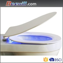 Night light modern style toilete seat led with light-activated and sound-activated sensor