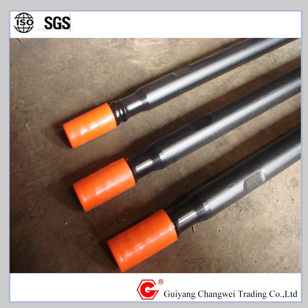 Rock drilling tools guide tube using connect drill rods thread R32 T38 T45 T51,male/female