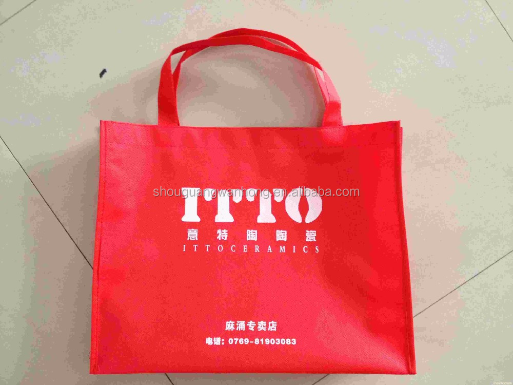 Hot sale die cut pp nonwoven wholesale reusable shopping bag with handles