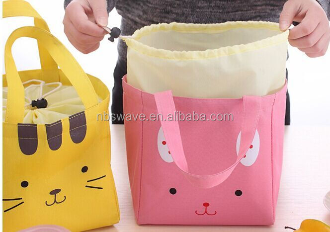 Fashion large insulated lunch / tote bag for shopping and promotiom