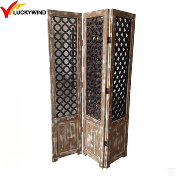 shabby chic small decorative Wooden folding partition screen
