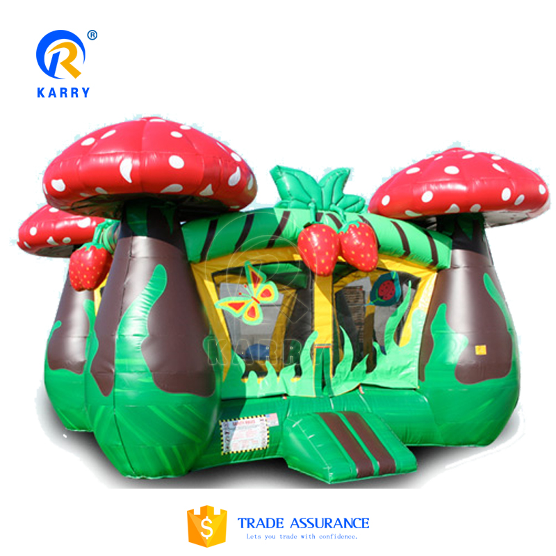 Strawberry giant inflatable bouncer,Backyard inflatable bouncy castle,cute Kids inflatable trampoline for sale
