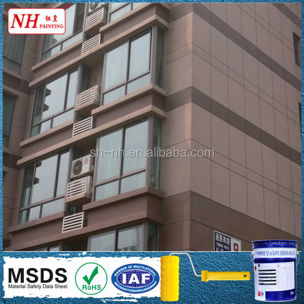 External wall spray stone paint