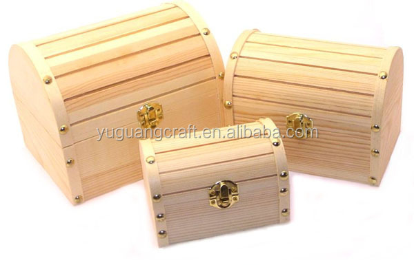 Wholesale Natural Small Wooden Barrel Chest With Clasp