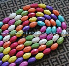 Fashion Natural Howlite gemstone turquoise beads 12x20mm strands gemstones wholesales!!