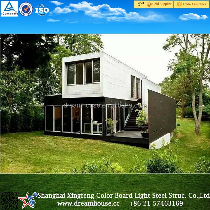 modern container house/prefab house/prefabricated/modular home /homes/villa