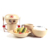 100% Degradable Cute Kids Children Bamboo Fiber Tableware Set Bamboo Bowl Spoon Fork Cup