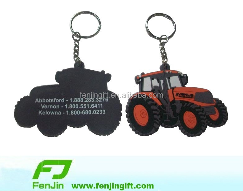 Motor pvc keychain advertising promotional items