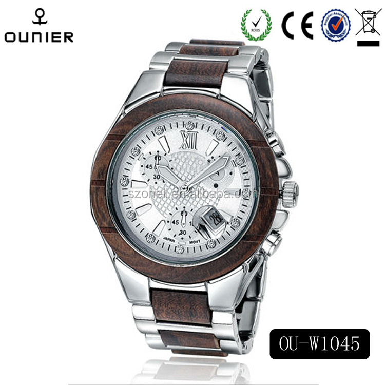 Hot Unique design Top Sale unisex Unique Wooden Automatic Wrist Watch