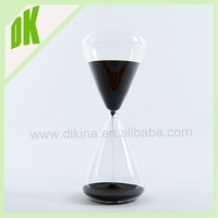 BLACK SAND IN hourglass bubble sand timer > wholesale custom Large 5 Minute Sand Timer