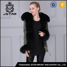 Modern design short mink coat winter black fur coat with fur hood