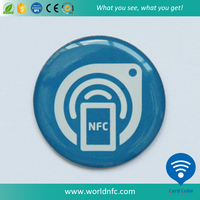 Competitive Price Dia 30mm Epoxy NFC Tag / Custom Waterproof NFC Tag with URL Encoding