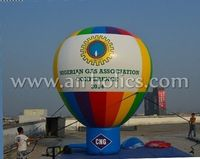 advertising Colorful inflatable rainbow floor balloon/ sky floating balloon H3189