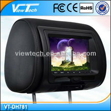"7"" car cheap headrest lcd dvd player"