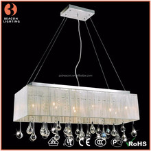 high quality cheap crystal unique rectangle dining room lighting MP8086-2