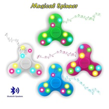 Bluetooth musical tri fidget finger tip usb gyroscope spinner toy