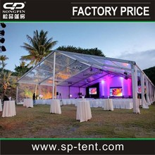 Clear roof marquee party wedding tent 25mx30m with decorations