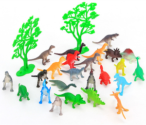 24 pieces small 3D mini animal solid dinosaur model toys for kids educational collection