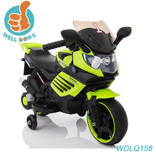 Very cool new model electric kids motorcycle with leather seat , three wheels WDLQ158