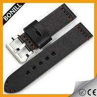 hand made 22mm leather cuff watch band with sport buckle