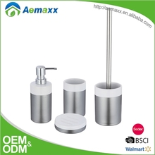 Silver Luxury home decor ceramic shower room accessory set for hotel