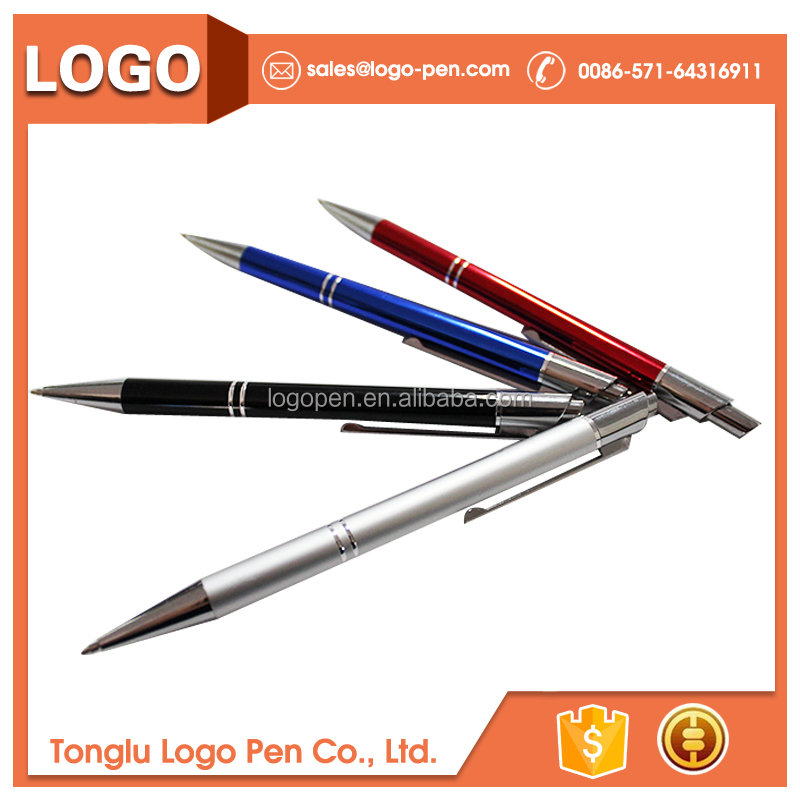 pet play rollerball ballpoint pens metallic pen with logo