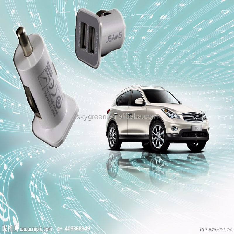 5.1V 2100mAh Universal Color Dual USB Car Charger for Sony Xperia Tablet Z LTE/ Samsung I9500 Galaxy S4/FOR iPad 4/FORiPad mini