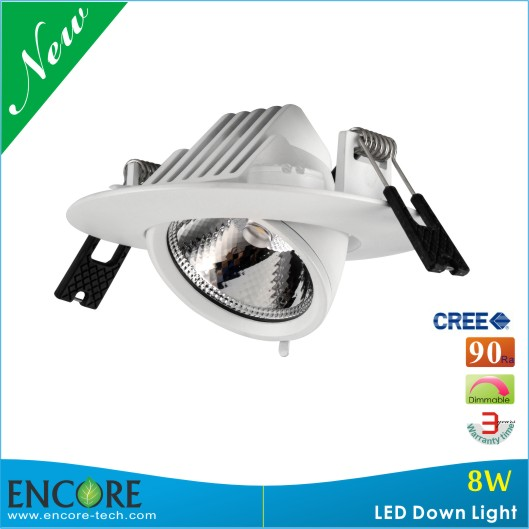 Hot Sales COB 3000K 8W DLT Gimbal Led Commercial <strong>Downlight</strong>
