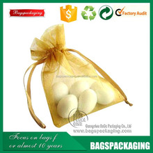factory cheap wedding candy organza gift bags