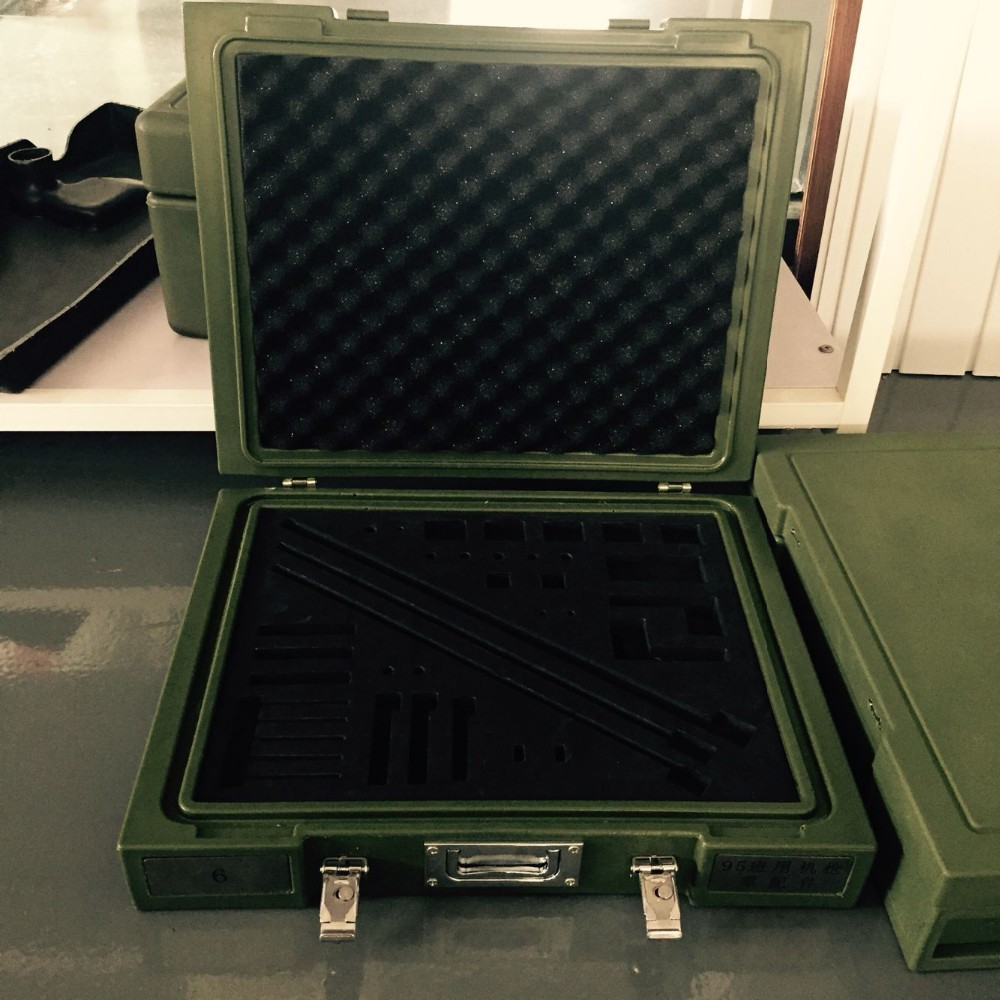 waterproof high shock-resistant plastic ammo case/rotomolding tool box