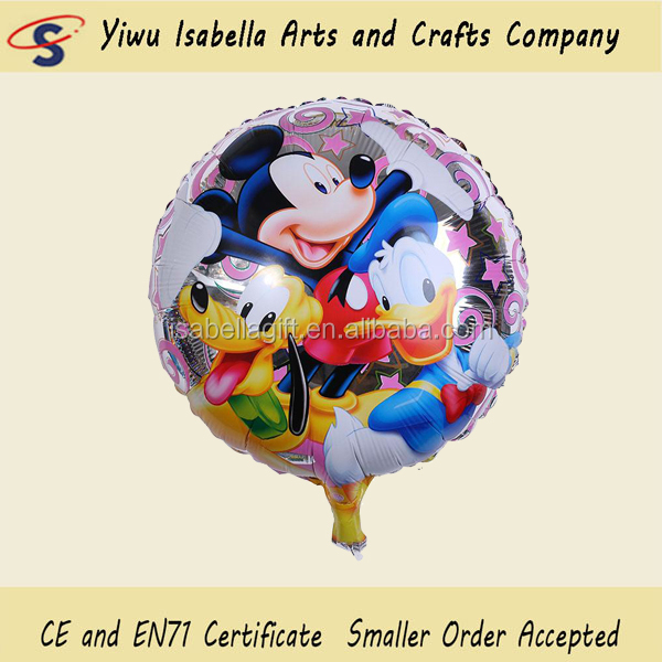 Hot selling mickey & minnie mouse helium balloon