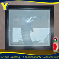 YY factory Double glazed windows and doors in thermally broken aluminum | fixed panel aluminium window with blinds for privacy