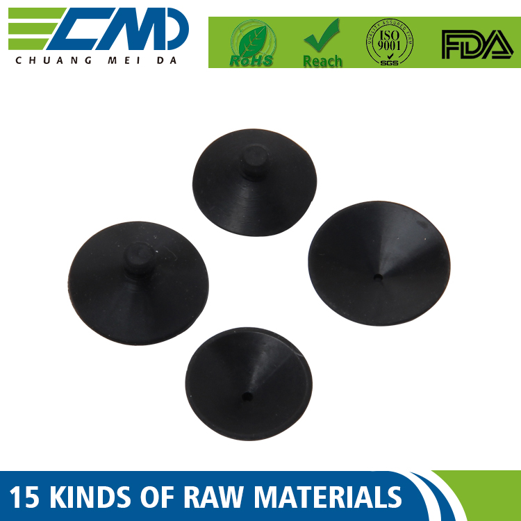 Customed Standard Single Or Double Sided Suction Cup Clip Sucker Rubber For Aquarium