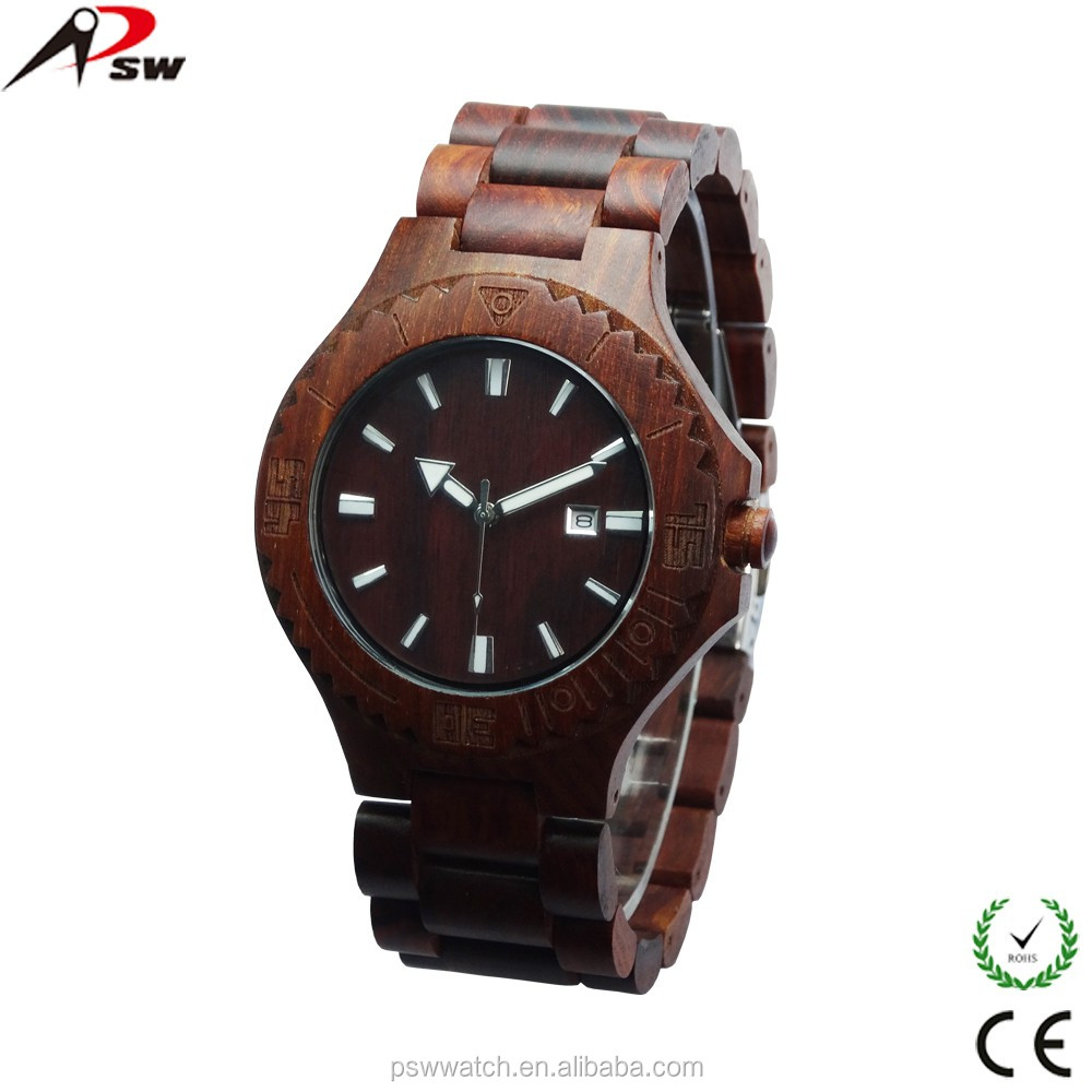 Best selling paper box packaging wood wrist watch China watch suppliers