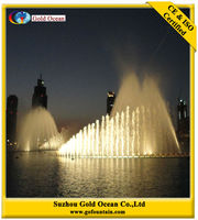 Large Outdoor Water Fountains Light Show Fountain Speakers